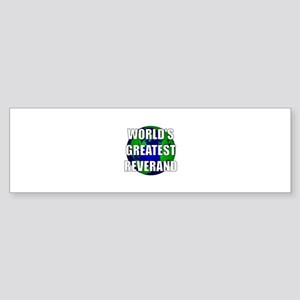 World's Greatest Reverand Bumper Sticker