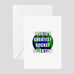 World's Greatest Rocket Scien Greeting Cards (Pk o