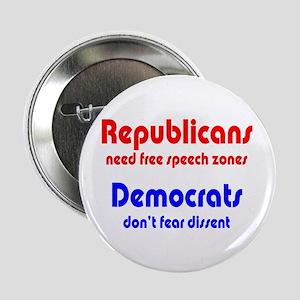 Republicans vs. Democrats Button