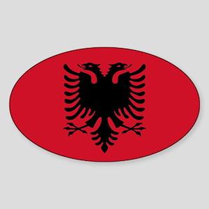 Albanian Flag Oval Sticker