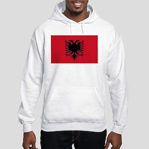 Albanian Flag Hooded Sweatshirt
