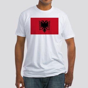 Albanian Flag Fitted T-Shirt