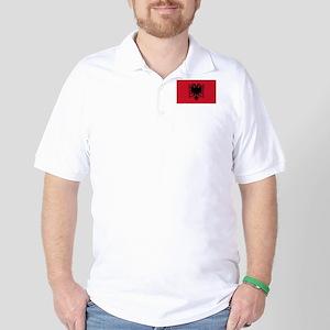 Albanian Flag Golf Shirt