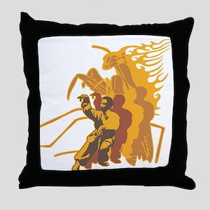 Praying Mantis Kung Fu Throw Pillow