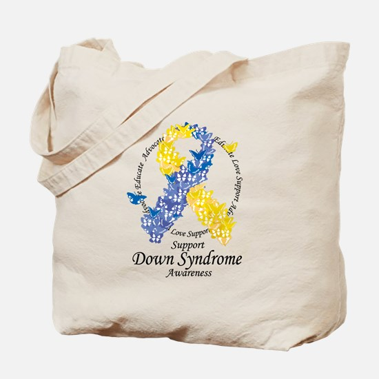 DS Butterfly Ribbon Tote Bag