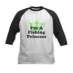 Fishing Princess 5 Kids Baseball Jersey