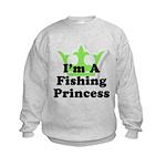 Fishing Princess 5 Kids Sweatshirt