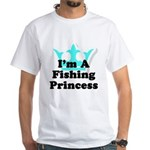 Fishing Princess 6 White T-Shirt