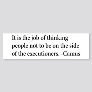 Camus Thinking People Anti-War Bumper Sticker