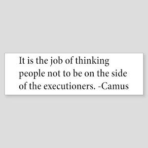 Camus Thinking People Anti-War Bumper Sticker