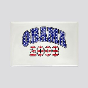 Distressed Obama 2008 Rectangle Magnet