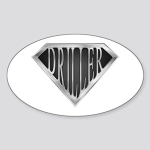 SuperDriller(metal) Oval Sticker