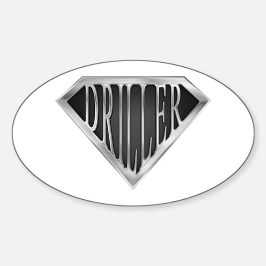 SuperDriller(metal) Oval Decal