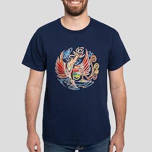 """Oriental Phoenix"" Dark T-Shirt"