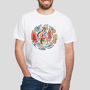 """Oriental Phoenix"" White T-Shirt"
