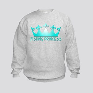 Fishing Princess 7 Kids Sweatshirt