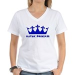 Kayak Princess 3 Women's V-Neck T-Shirt