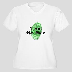 Mole Fingerprint Women's Plus Size V-Neck T-Shirt