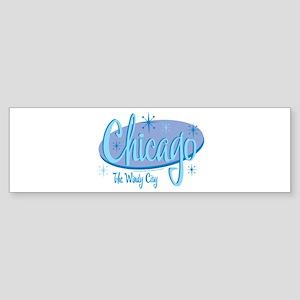 Chicago Retro Bumper Sticker (50 pk)