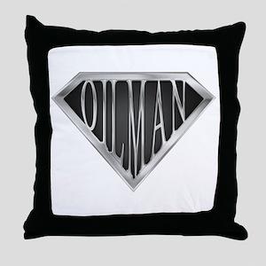 SuperOilman(metal) Throw Pillow