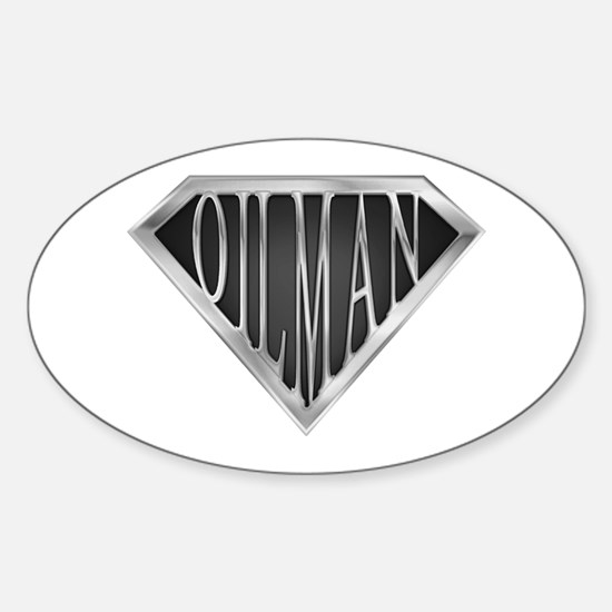 SuperOilman(metal) Oval Decal