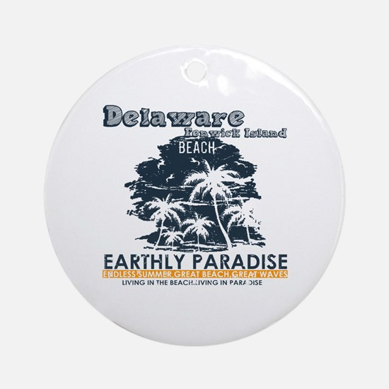 Cute Fenwick island Round Ornament