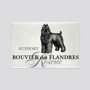 Bouvier Rescue Rectangle Magnet