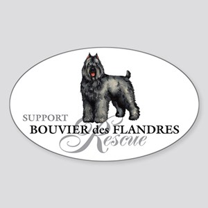 Bouvier Rescue Oval Sticker