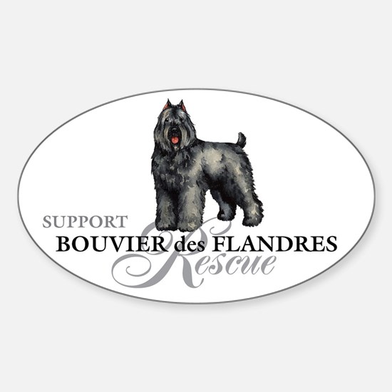 Bouvier Rescue Oval Decal