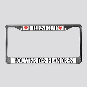 Bouvier Rescue License Plate Frame