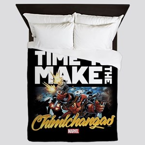 Deadpool Time to Make the Chimichangas Queen Duvet