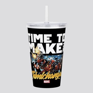 Deadpool Time to Make Acrylic Double-wall Tumbler