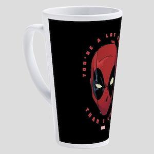 Deadpool You're Smarter Than I Loo 17 oz Latte Mug