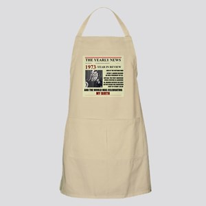 born in 1973 birthday gift BBQ Apron