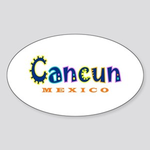 Cancun - Oval Sticker
