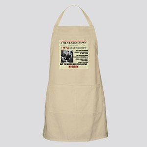 born in 1974 birthday gift BBQ Apron