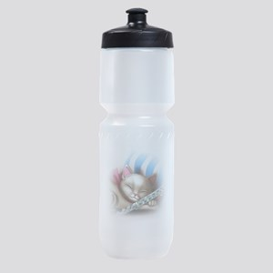 Napping Cat and Flute Sports Bottle