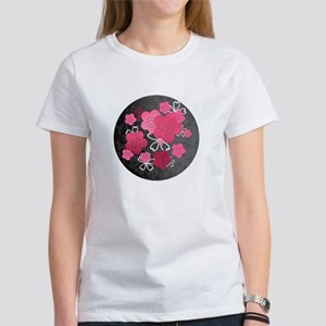 Black Blossoms Women's T-Shirt