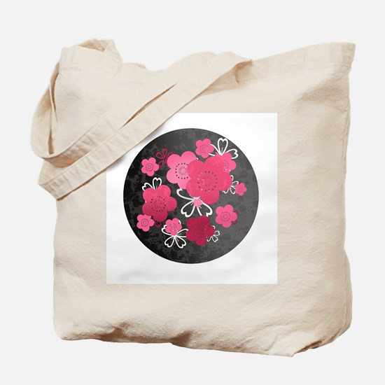 Black Blossoms Tote Bag