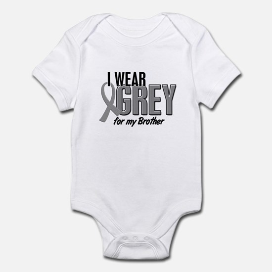 I Wear Grey For My Brother 10 Infant Bodysuit