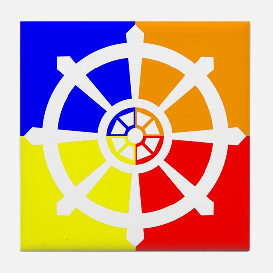 Dharma Wheel Tile Coaster