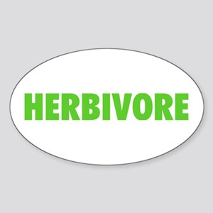 Herbivore Oval Sticker