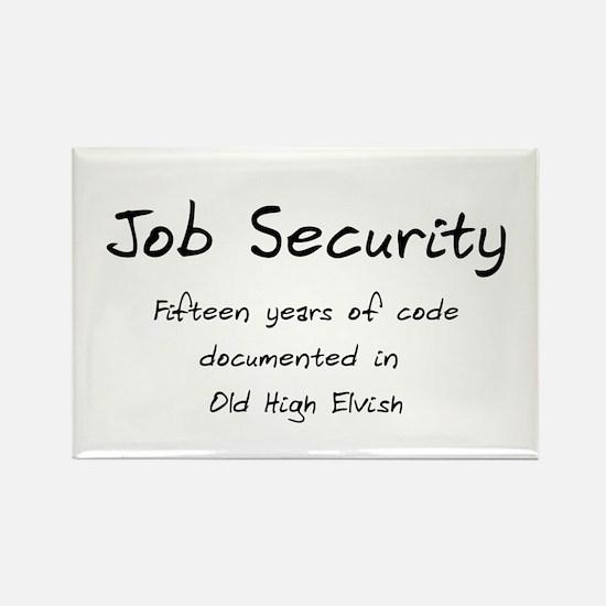 Programming Humor - Job Security Rectangle Magnet