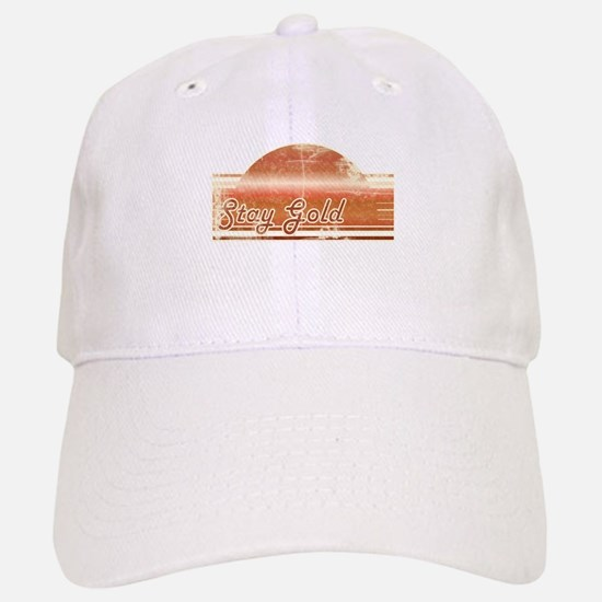 Vintage Distressed Stay Gold Baseball Baseball Cap