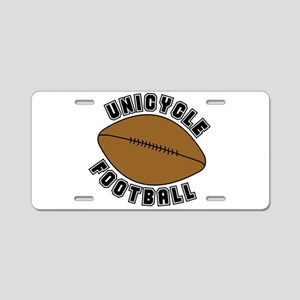Unicycle Football Text Aluminum License Plate