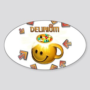 Delerium In The Groove Oval Sticker