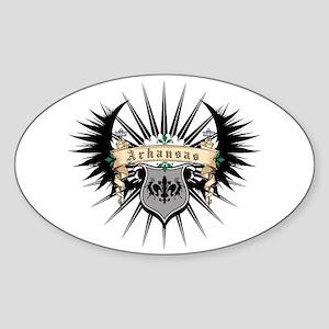 Arkansas Heraldry Oval Sticker