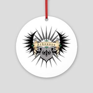 Arkansas Heraldry Ornament (Round)