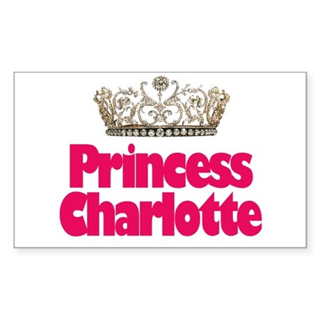 Princess Charlotte Rectangle Sticker