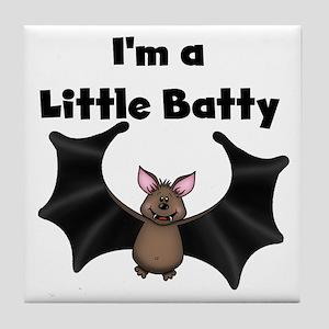 Batty Halloween Tile Coaster